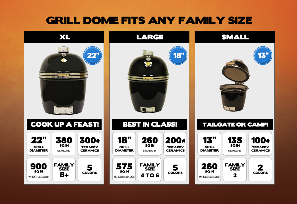 3 sizes Grill Dome
